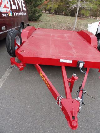 Kaufman Bumper Pull Flat Deck Trailer W/ Corner Jacks photo