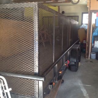 18ft Trailer With 4 Ft Cage photo
