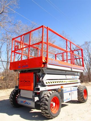 2005 Skyjack Sj7127rt All Terrain Scissor Lift Manlift Boom Aerial Lift,  Platform photo