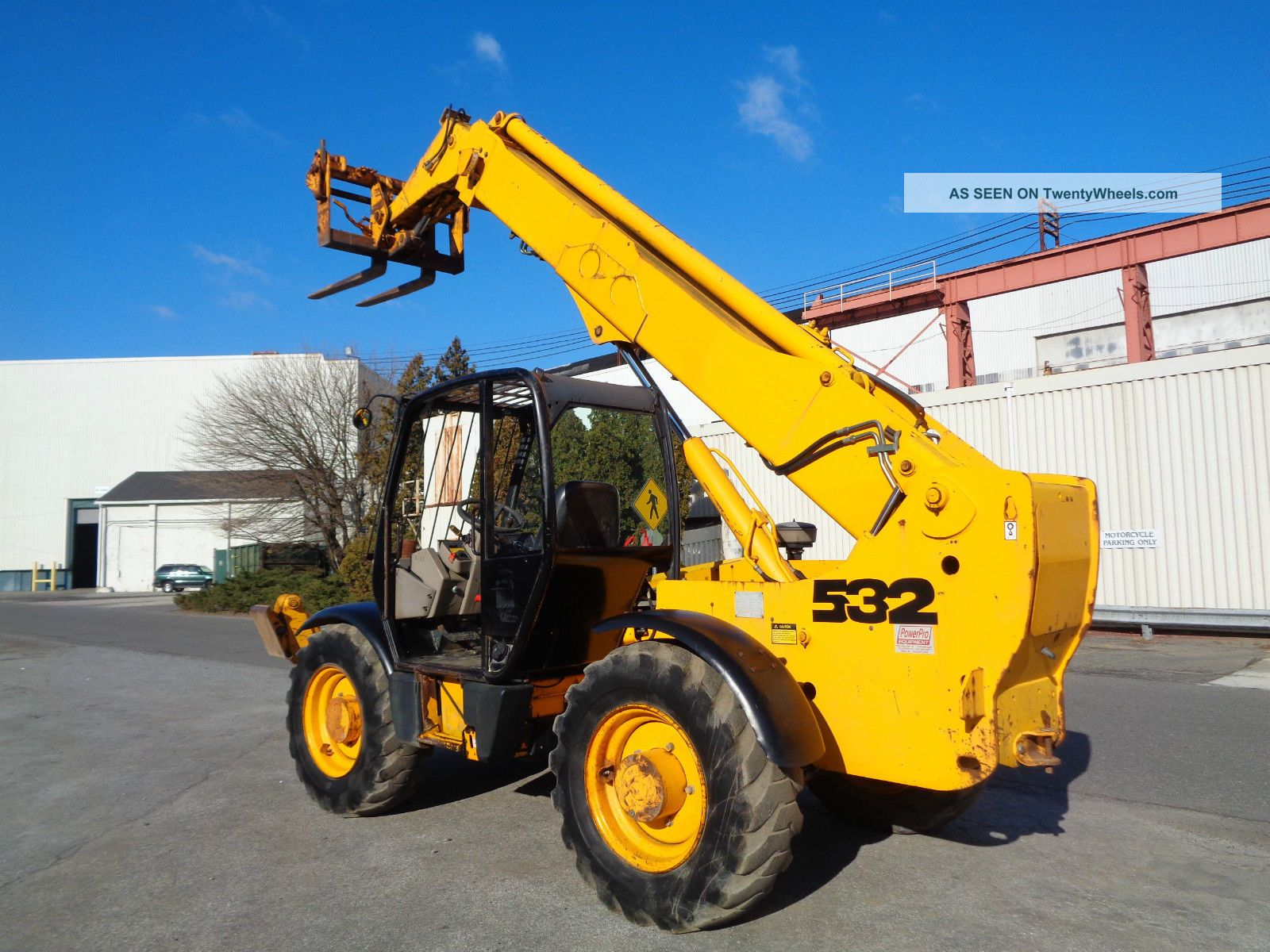 Boom Lift Truck : Jcb  lbs ft height telescopic telehandler boom