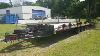 Heavy Duty 8 ' X 24 ' Deckover Equipment Or Car Trailer photo