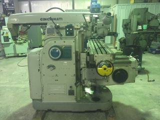 Cincinnati Horizontal/vertical Universal Mill,  50 Taper,  With Indexer & Tooling photo