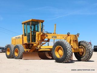 1988 John Deere 672b Motor Grader - Road Maintainer - 29 Pics photo