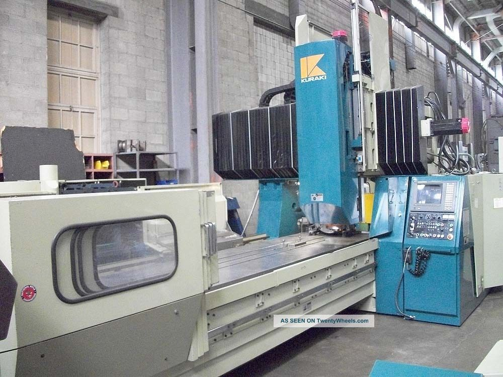 Kuraki Kv - 130 Bridge Type Cnc Vertical Machining Center 4 - Axis Cnc Mill Milling Machines photo