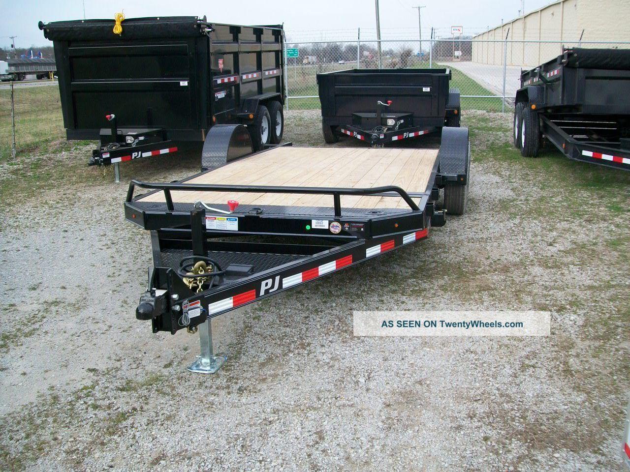 16 Single Axle Trailer : Pj tilt equipment trailer gvw single