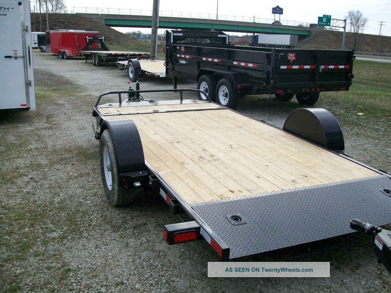 Single Axle Trailer Specs : Pj tilt equipment trailer gvw single
