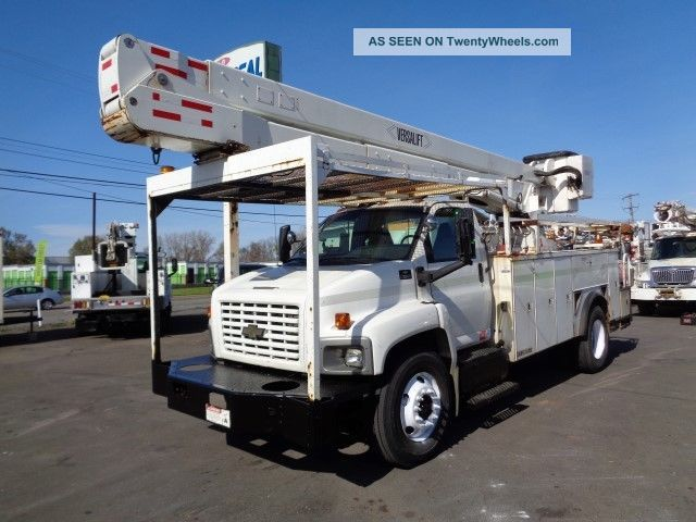 2004 Gmc 7500 55 ' Bucket Boom Truck Cat Diesel Bucket / Boom Trucks photo
