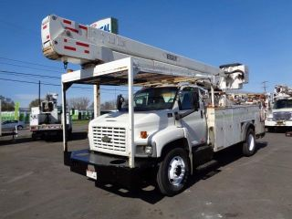 2004 Gmc 7500 55 ' Bucket Boom Truck Cat Diesel photo