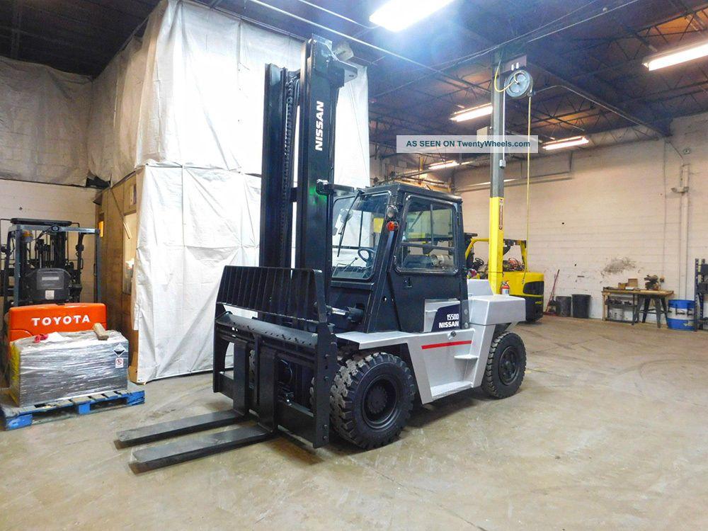 2005 Nissan Vf05h70v 15500lb Dual Drive Pneumatic Forklift Diesel Lift Truck Forklifts photo