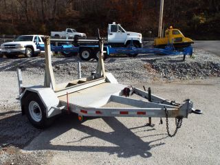 2002 Robcol Galvanized Reel / Cable Spool Trailer With Rotating Reel Stand photo
