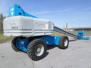 Genie S85 85 ' Boom Lift 85ft Jib Boom Man Lift Manlift Straight Stick Boomlift photo
