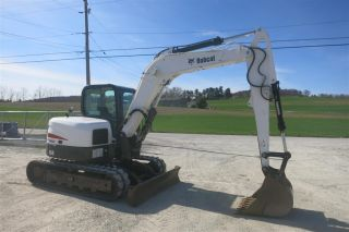 2012 Bobcat E80 Excavator,  Cab Air,  Joystick Ctrls,  1986 Hours photo