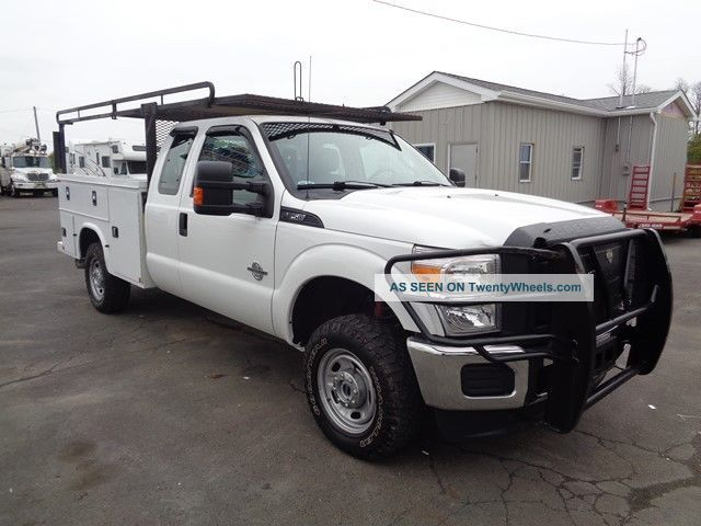 2015 ford f250 4x4 extended service utility truck diesel. Black Bedroom Furniture Sets. Home Design Ideas