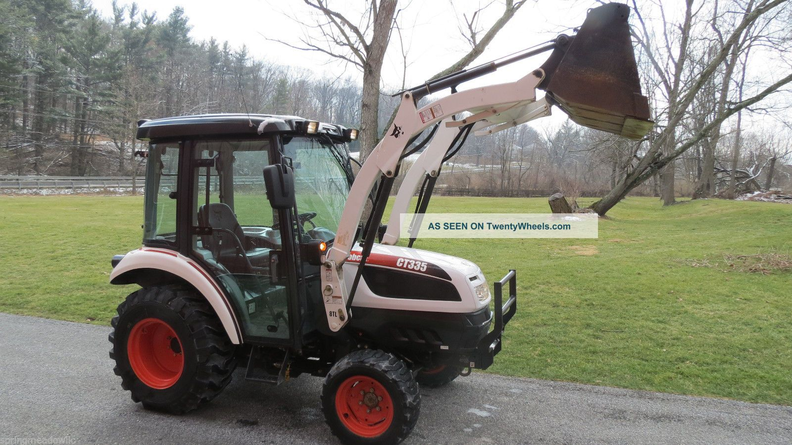 2012 Bobcat Ct335 4x4 Compact Tractor W/ Loader & Cab Hydro Heat A/c