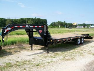 2016 Pj 25 ' Gooseneck Equipment Trailer 20 ' +5 ' Dovetail - 15,  680 Gvw photo