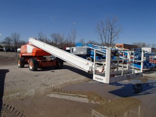 2008 Snorkel Tb80 Boom Lift Foam Filled Tires & 4 Wheel Steer - Jlg Genie Terex photo