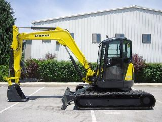 2002 Yanmar 75 Excavator Hydraulic Thumb,  Blade,  Cab Heat A/c Swing Boom photo