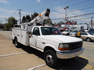 1997 Ford F - Duty Service Bucket Telsta Boom Truck photo