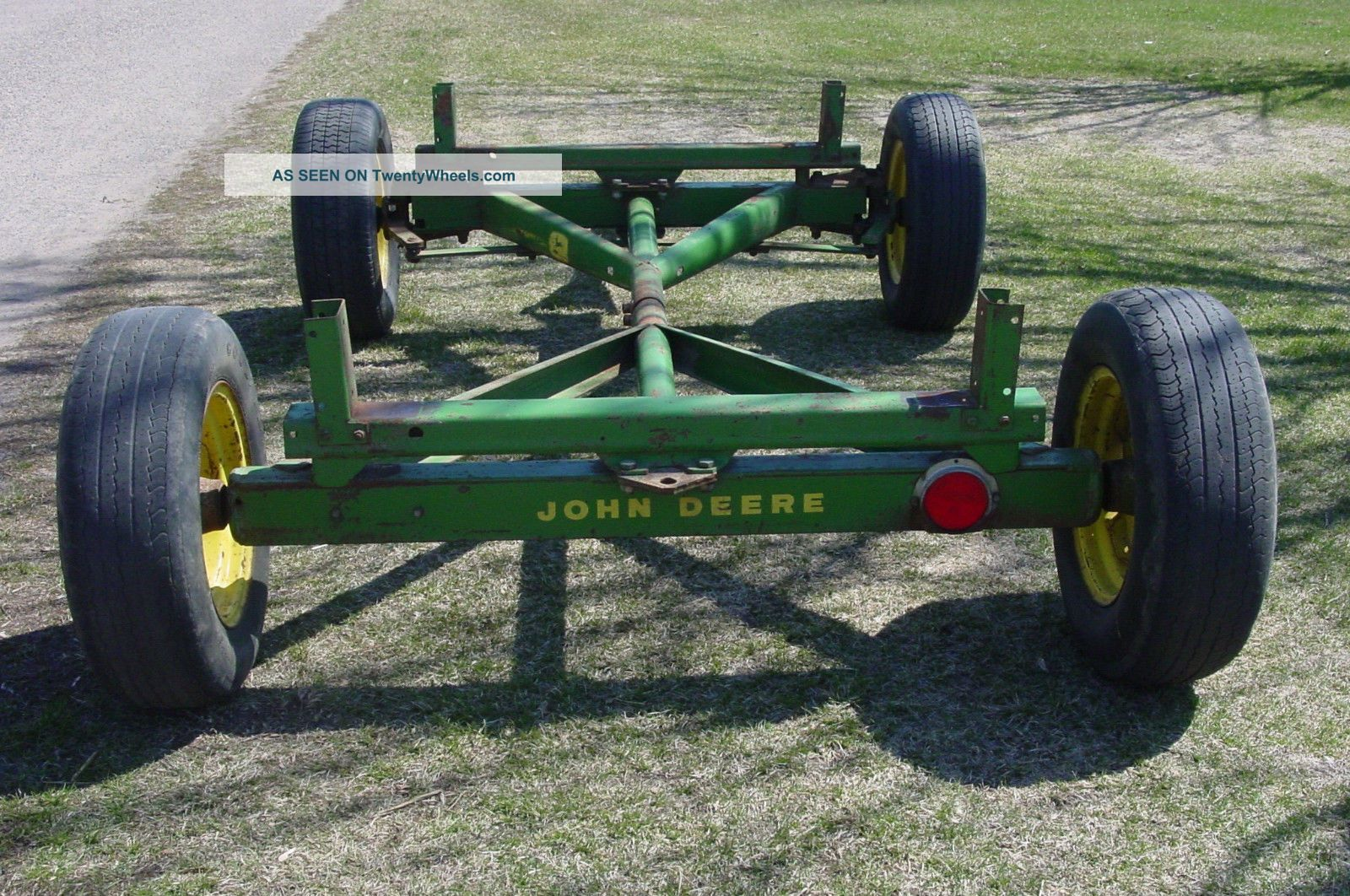 Old Wagon Gears : Old antique vintage john deere tractor wagon running gear