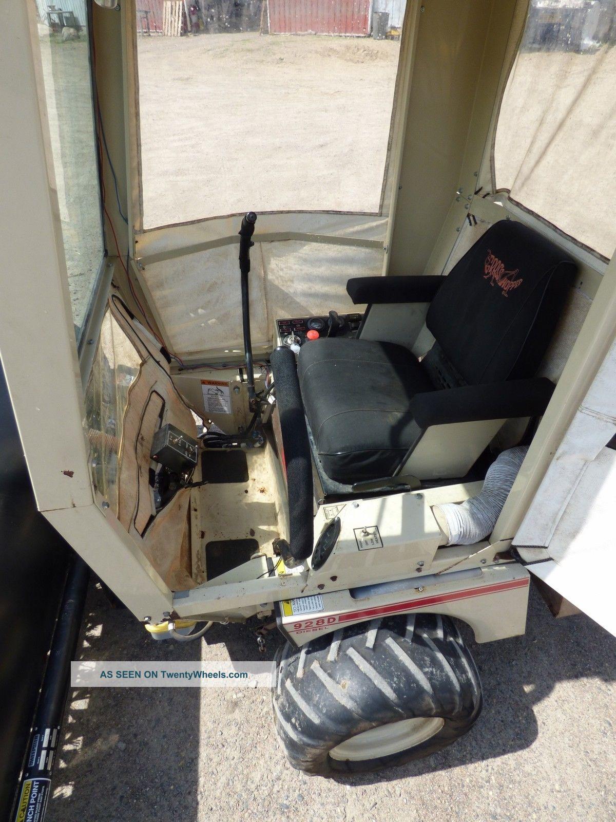 grasshopper 928d kubota diesel mower w  sweepster broom