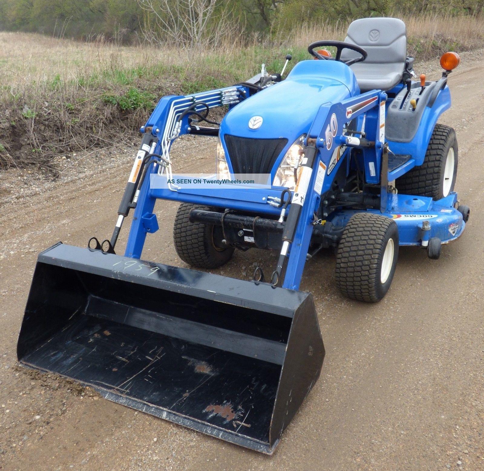 holland tz25da diesel garden tractor mower koyker loader 4x4. Black Bedroom Furniture Sets. Home Design Ideas