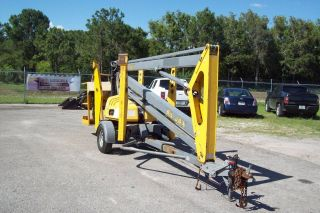 Bil Jax 4319 Towable Boom Lift,  43 ' Work Height,  All,  Rotating Basket photo