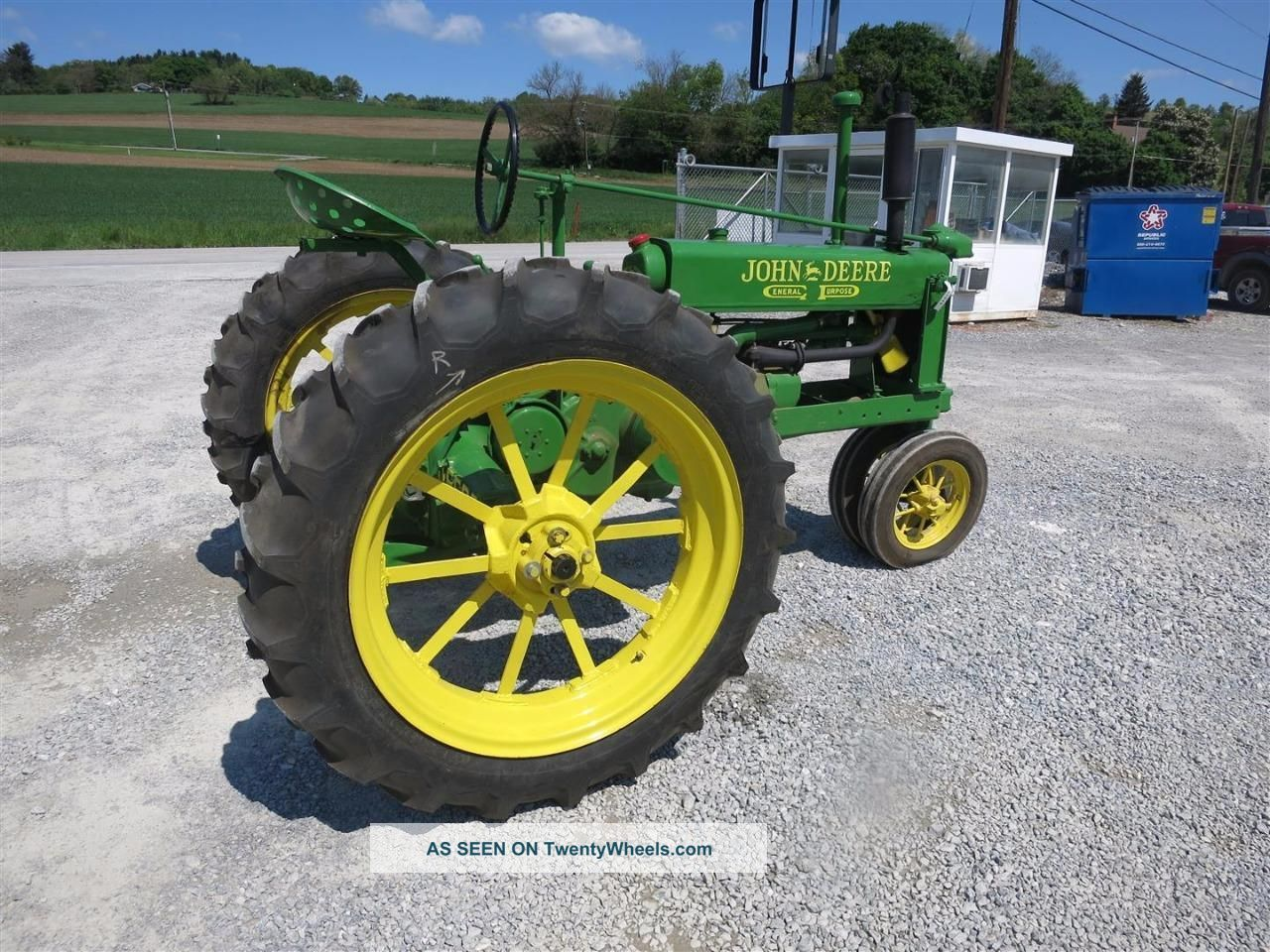 John Deere Unstyled B Antique Tractor Gas 540 Pto Good