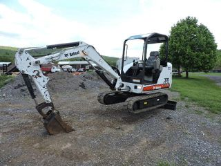 2008 Bobcat 331 G Rubber Track Mini Excavator 2 Speed Backhoe Skid Steer Kubota photo