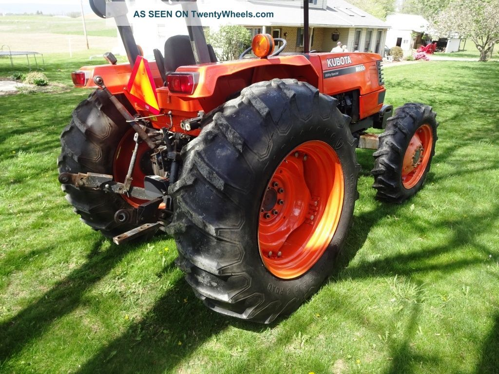 Kubota Tractors With Dual Wheels : Kubota m utility special compact tractor dual