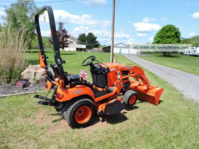 36750 2013 kubota bx1870 sub  pact tractor loader with 48  belly mower quick attach on belly dump semi trailers