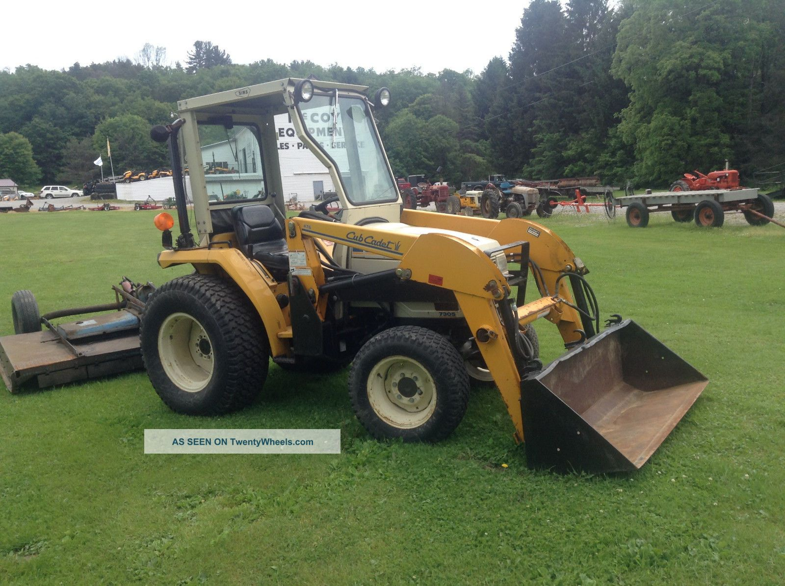 Tractor Loader Boom Middle Steeering : Cub cadet compact tractor model with front loader