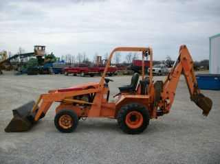 Allmand Tlb 425 Esl Tractor/loader/backhoe,  Kubota Diesel,  Hydro Transmission photo