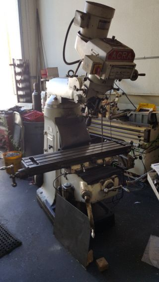 Acra Variable Speed Milling Machine (read Details) photo