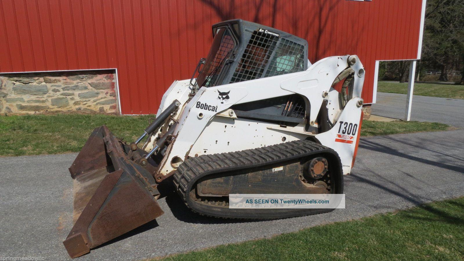 Bobcat Skid Steer Track Loader : Bobcat t skid steer skidsteer loader compact track