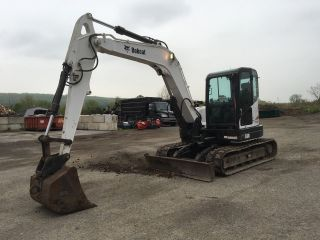 2010 Bobcat E80 Excavator Loaded 2400 Hours photo
