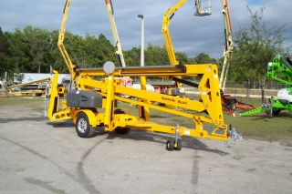 Biljax 5533a Towable Boom Lift,  61 ' Work Height,  33 ' Reach,  W/material Lift Hook photo