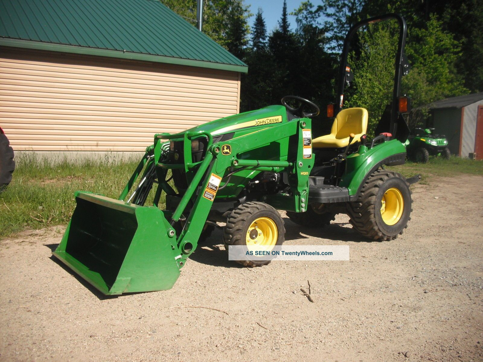 John Deere Compact Tractor Attachments : John deere e loader compact tractor