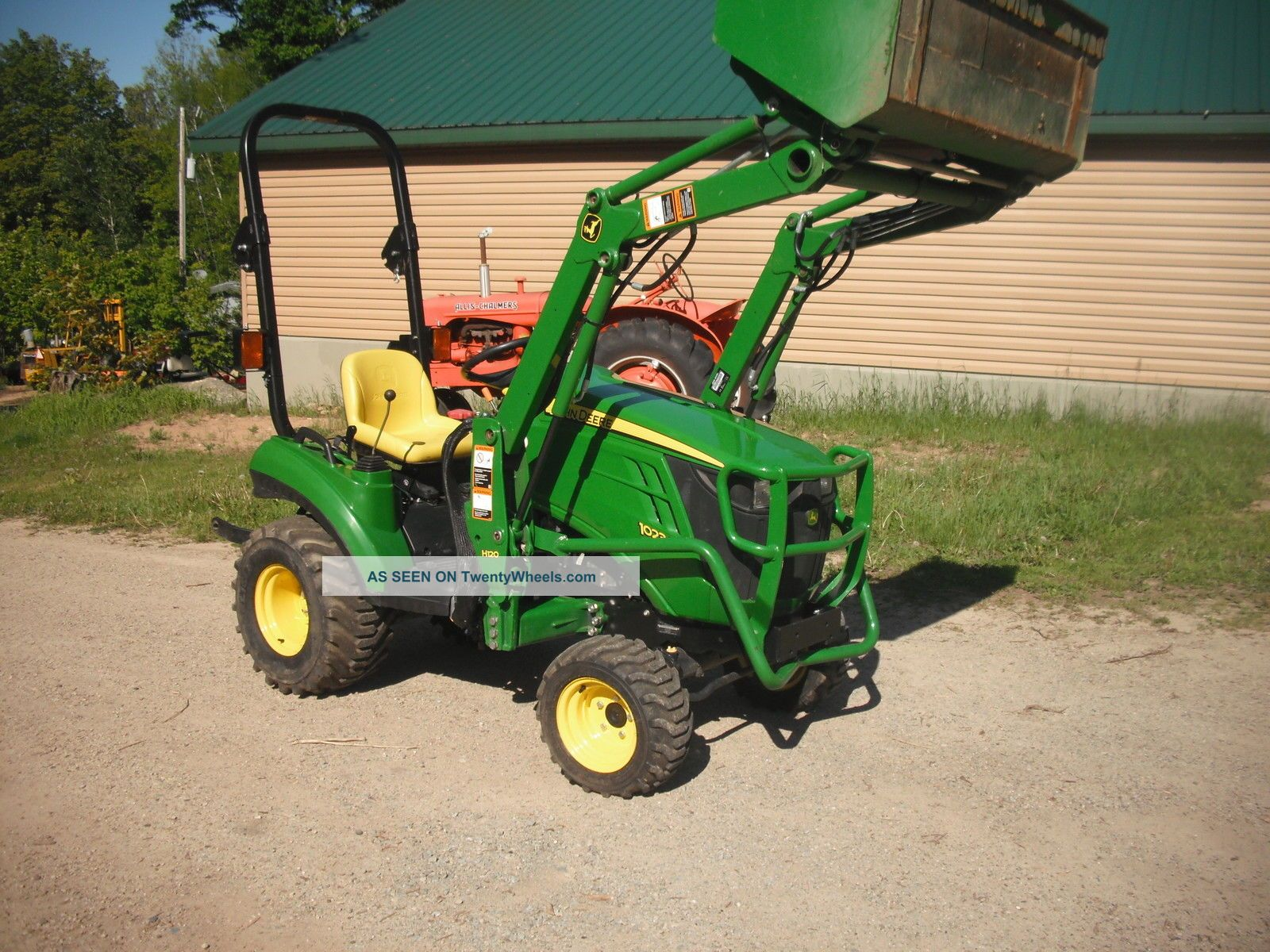 Small Tractors With Loaders : John deere e loader compact tractor