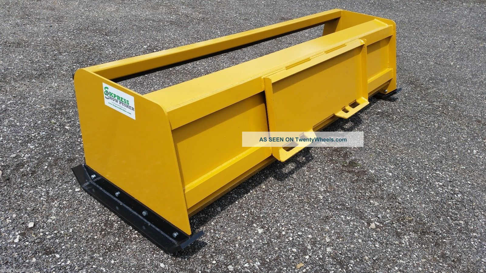 Skid Steer Tool Box : Low pro snow pusher box with pullback bar skid steer
