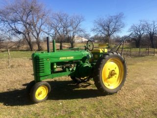 Antique John Deere B Tractor Row Plow Thumb Lgw