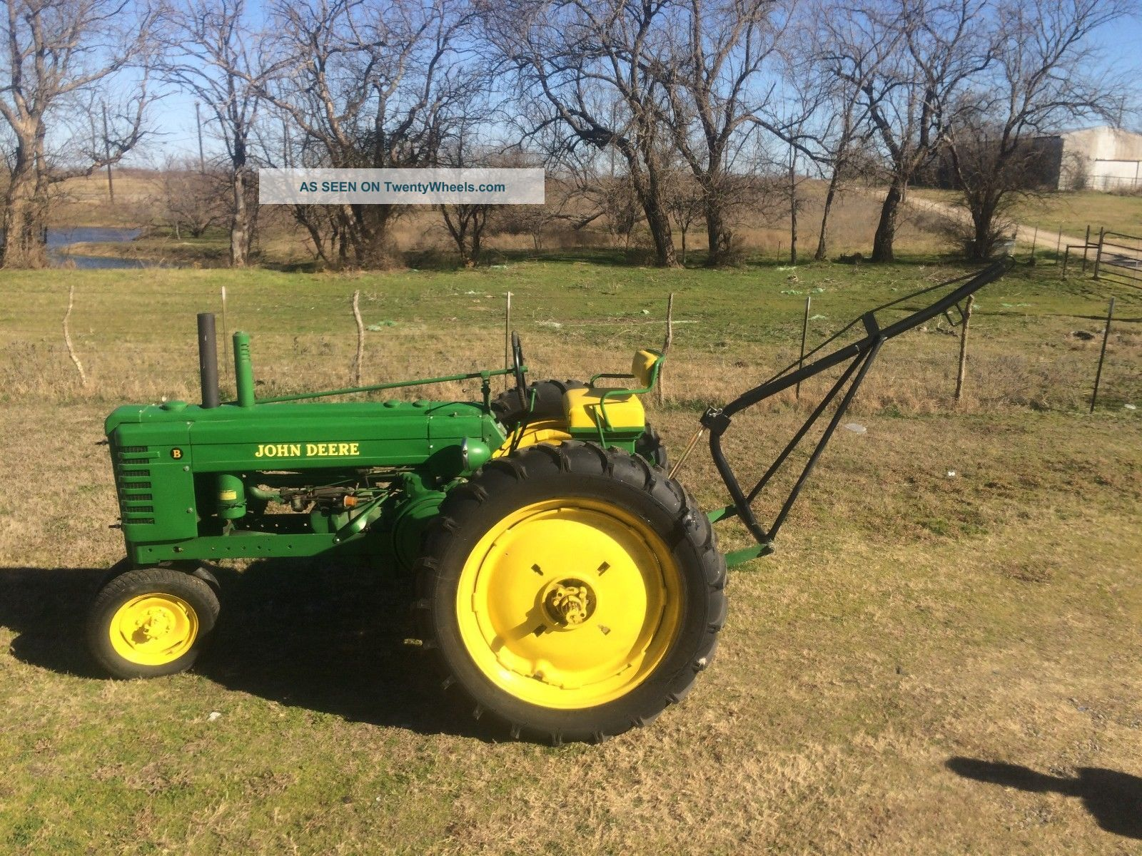 Antique John Deere B Tractor Row Plow Lgw
