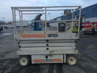 2001 Simon 2032 Scissorlift 20 ' Deck Hgt,  26 ' Work Hgt,  Fully Operational Hd photo