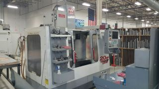 Haas Vf - 2 Cnc Vertical Machining Center Mill 4th Axis Ready Gear Box P - Cool 2000 photo