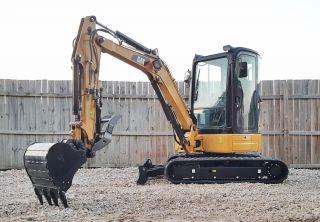 1 Owner 2013 Caterpillar 303.  5e Cr Mini Track Excavator Cab Hyd Thumb Heatac Cat photo