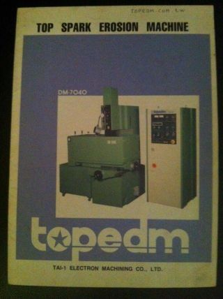Top Spark Erosion Machine Edm Topedm Dm 6030 photo