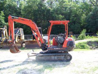 Kubota Kx121 - 2 Mini Excavator Rubber Tracks Open Canopy 4950 Hrs 2001 Year Model photo