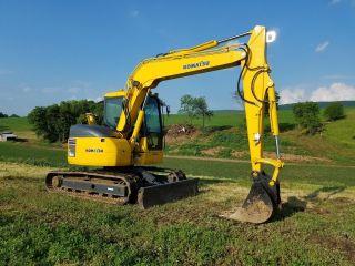2003 Komatsu Pc78us - 6eo Midi Hydraulic Excavator Tracked Hoe Plumbed Blade photo