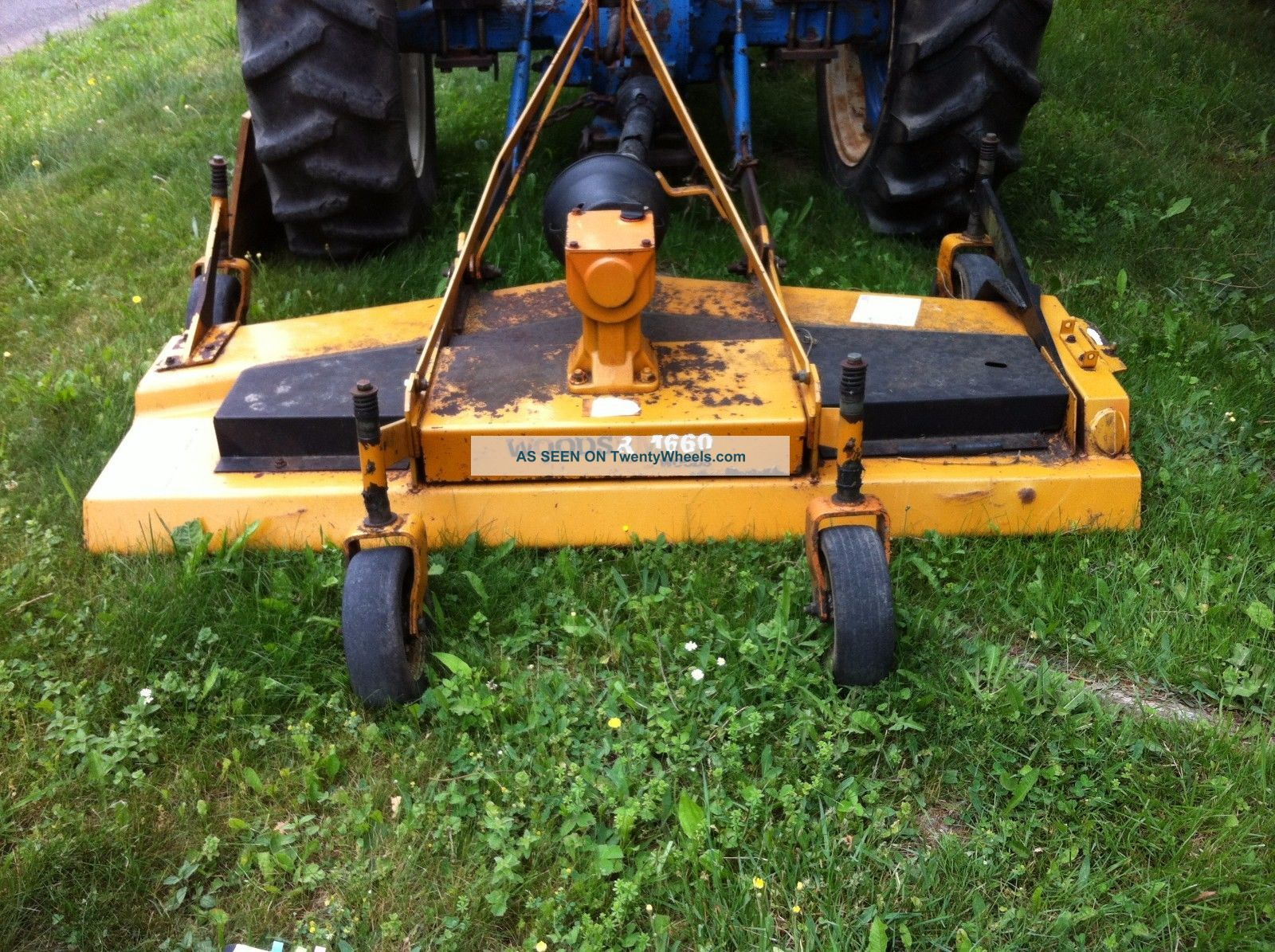 Woods Finish Mower : Ford tractor with woods finish mower
