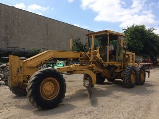 1989 Caterpillar Cat 12g Motor Grader W/ripper; 9765 Hrs photo