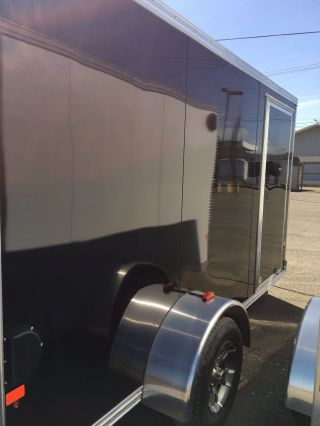 Aluminum Ez Hauler Ehezec6x12s 6 X12 Enclosed Trailer photo